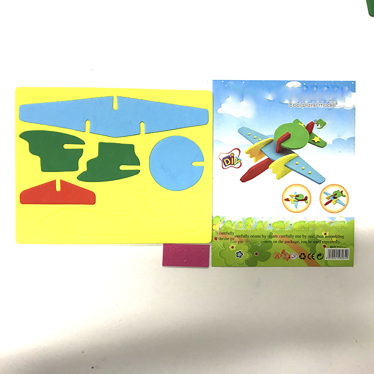 DIY EVA Foam Puzzle Plane for Children
