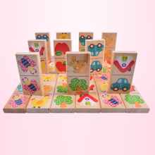 ABwt04 Hot Sale Educational Wooden Domino Set For Children
